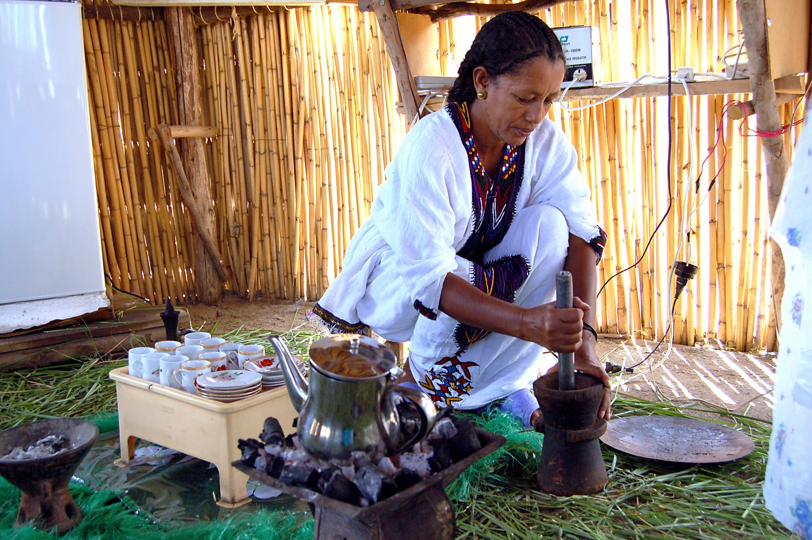 Etiopie kolébka kávy - ritual